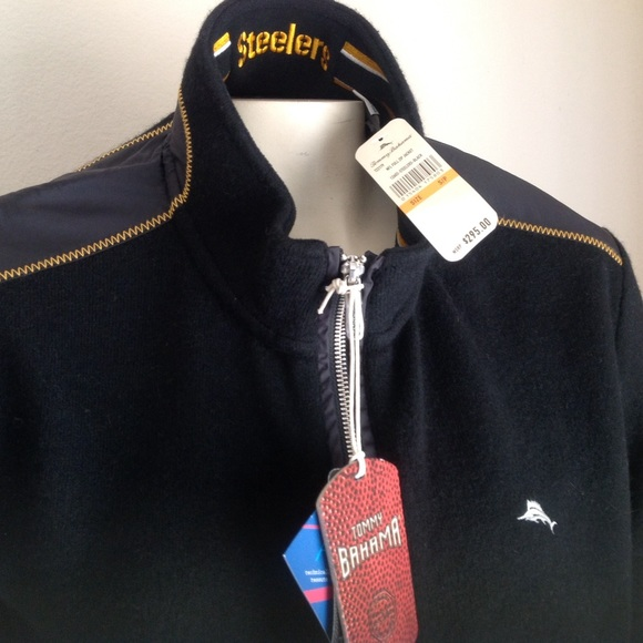 4420d188 Tommy Bahama Sweaters | New Steelers Sweater Small 295 | Poshmark